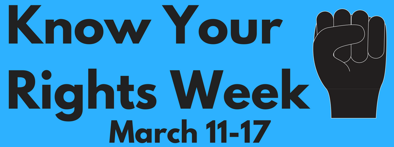 Know Your Rights Week Logo