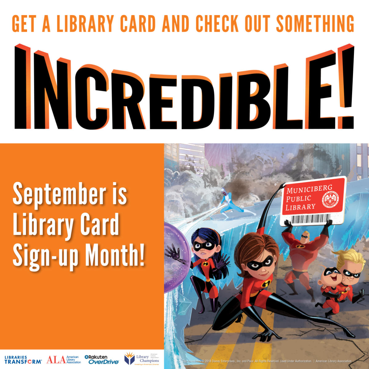 Library Card Sign-Up Month Image
