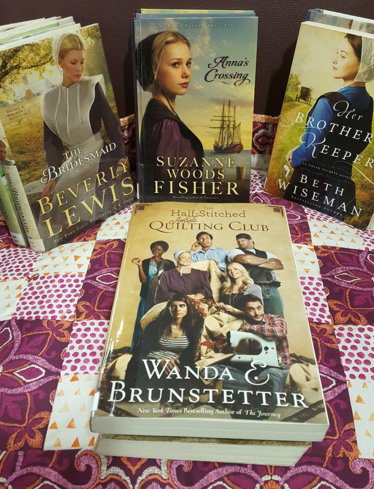 Amish fiction book covers.