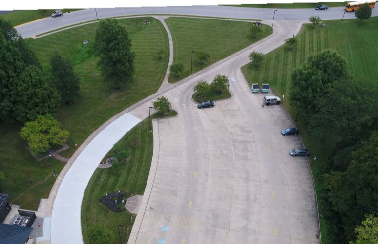 Parking Lot Aerial Image at Pickerington Main